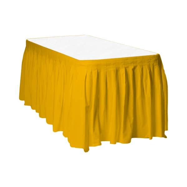 Faldón de Plástico Para Mesa Amarillo