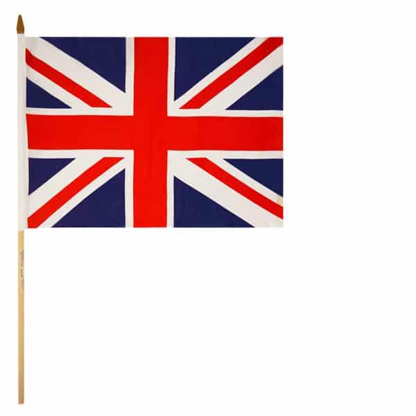 Bandera De Mano Agitando Union Jack 45Cm