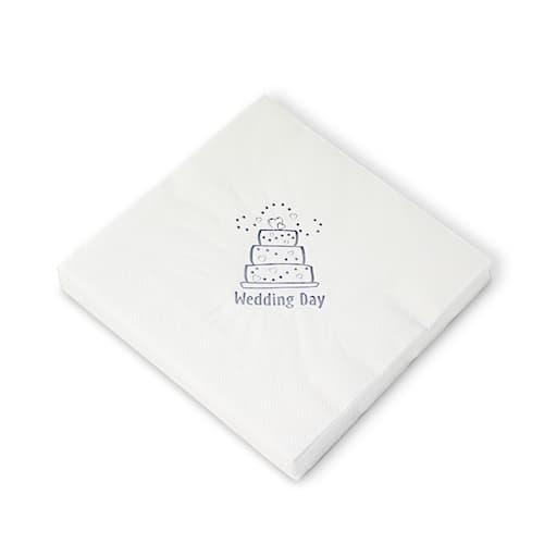 15 Servilletas Pastel de Bodas Blancas 40cm 3 capas