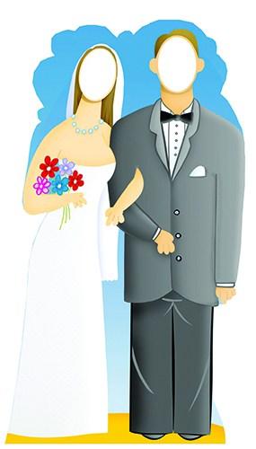 Pareja Matrimonial - Figura de cartón autoportante