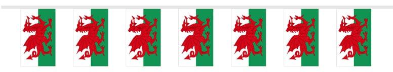 Gales Banderas de Tela 300 cm del Empavesado - 10 Banderas