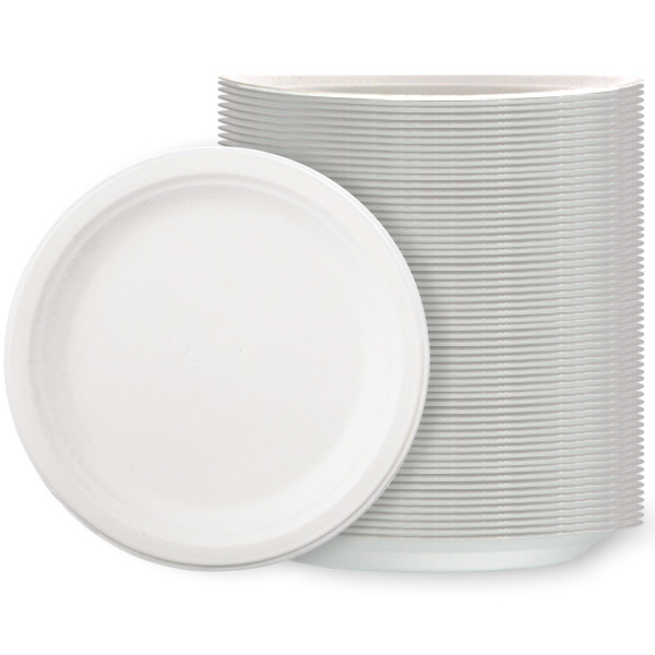 Blanco Platos de Poli 25 cm - Pack de 125