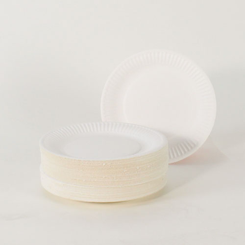 Platos de Papel Blanco 18 cm - Paquete de 100