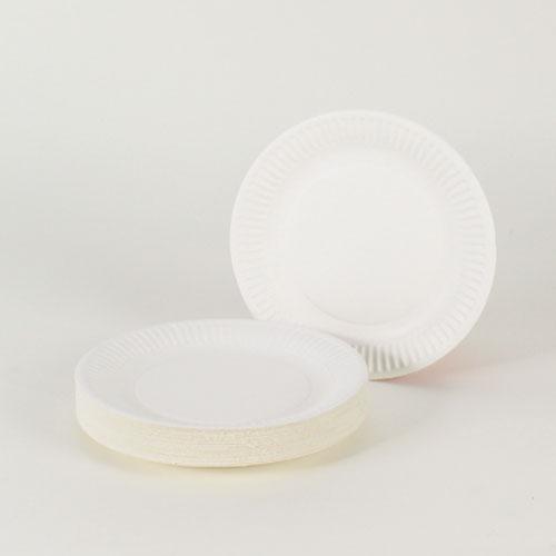 Platos de Papel Blanco 18 cm - Paquete de 35
