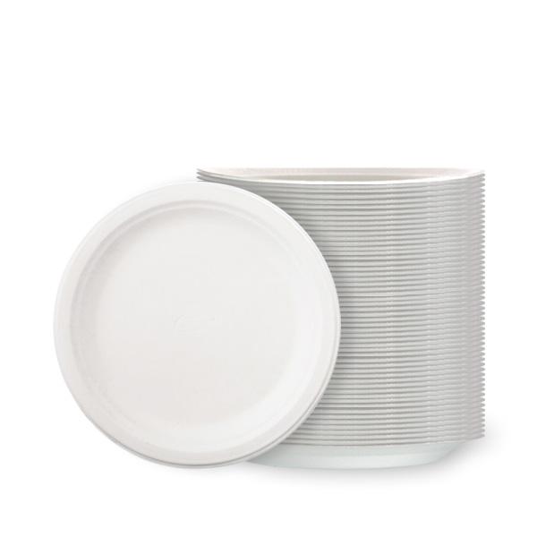 Platos De Poli Blanco 18 cm - Paquete de 100