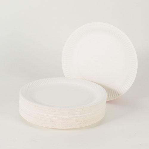 Platos De Papel Blanco 22,8cm - Paquete de 100