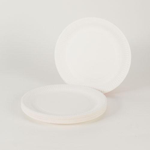 Platos de Papel Blanco 23 cm - Paquete de 30