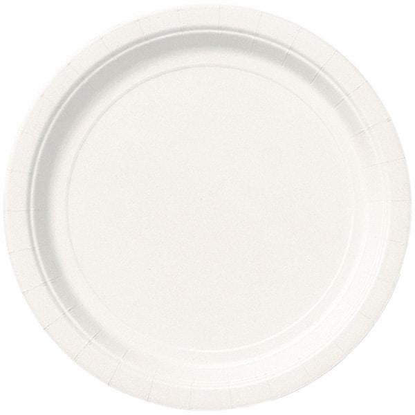 Platos De Papel Redondos Blancos 22Cm - Paquete De 16