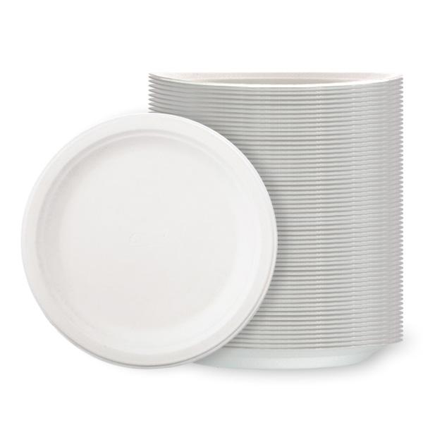 Platos De Poli Blanco 23 cm - Paquete de 125