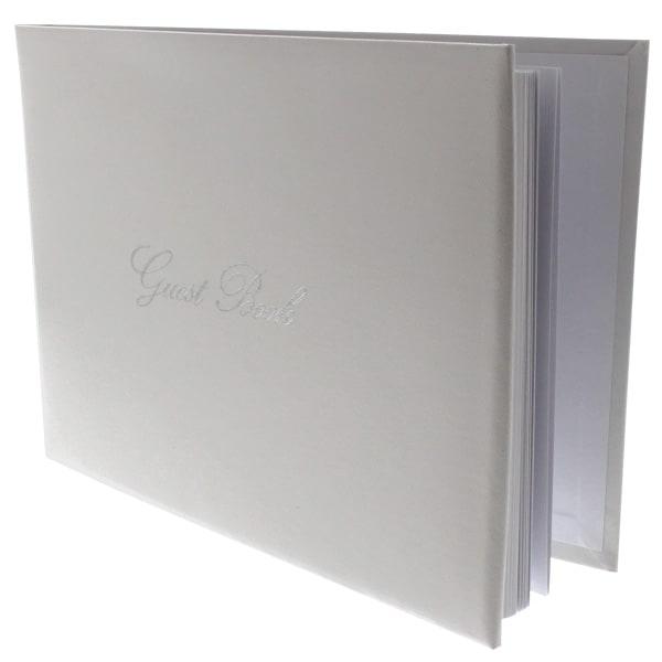 Blanco y Plata Libro de Invitados