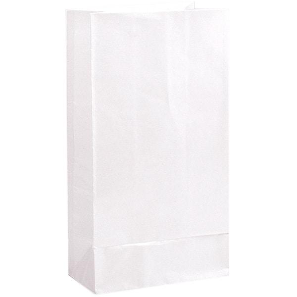 Bolsa de Papel Para Fiesta Blanca- Paquete de 12