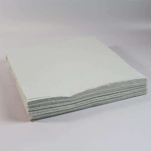 25 Manteles de Papel Blancos 90 x 90 cm