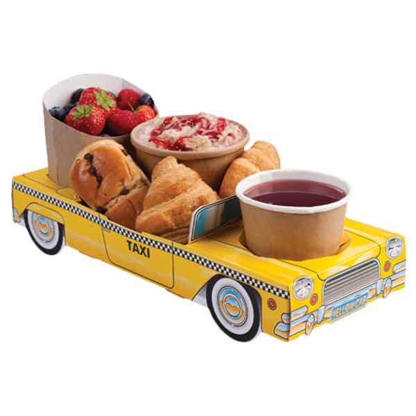 Taxi Amarillo Caja Para Comida - Unidad
