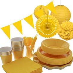 Suministros de fiesta amarilla