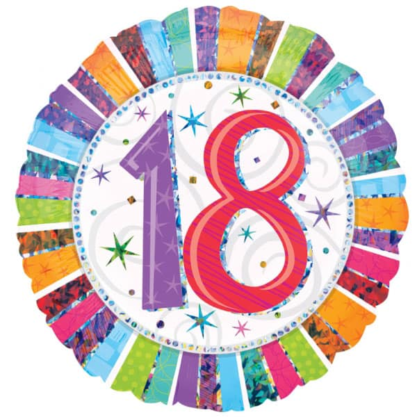 18 Cumpleaños Globo de Foil Redondo
