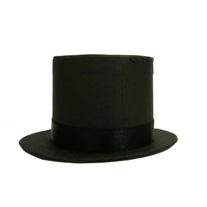 Caja De Favores Para Bodas Negra Sombrero Alto - Unidad