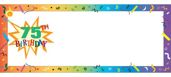 75 cumpleaños Banners personalizados