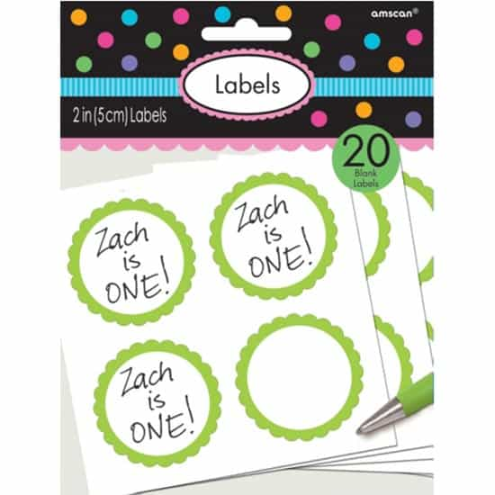 Pegatinas Etiquetas de Verdes Festoneado - Pack de 20