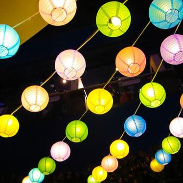 Linternas de fiesta