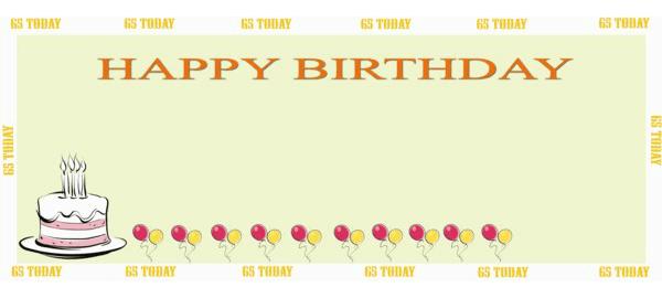65 cumpleaños Banners personalizados