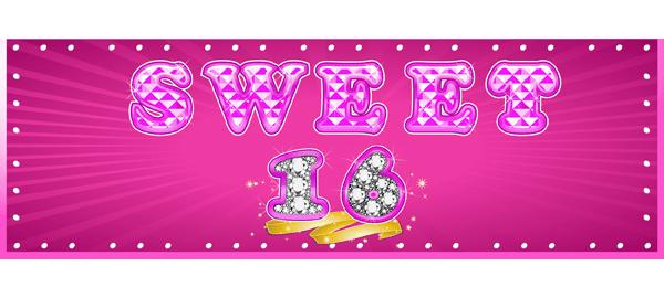 Banners personalizados de cumpleaños 16