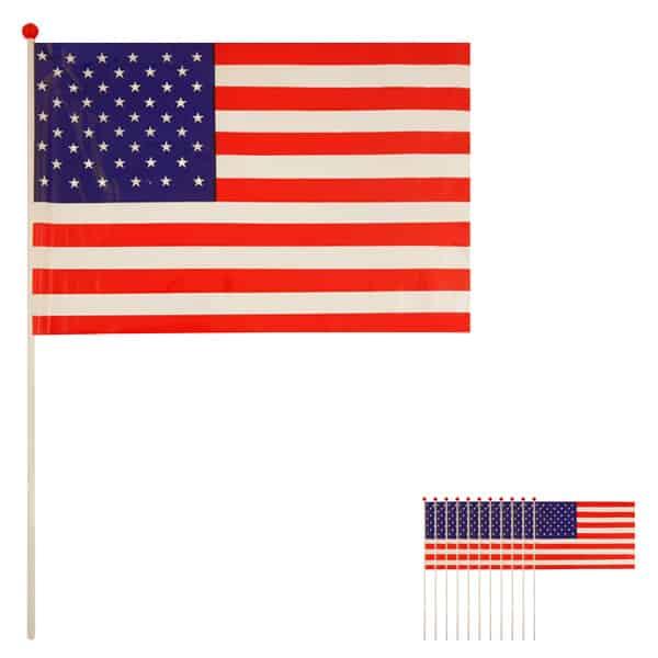 Bandera de Celebrada Mano de Estados Unidos - Pack de 12