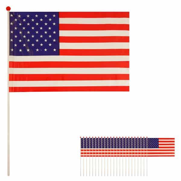 Bandera de Celebrada Mano de Estados Unidos - Pack de 25