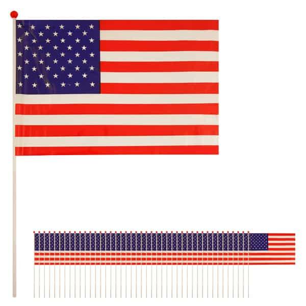 Bandera de Celebrada Mano de Estados Unidos - Pack de 50