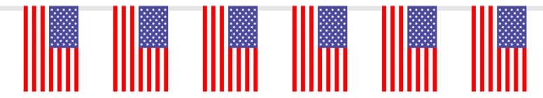 USA Bandera Plástico Banderín - Unidad