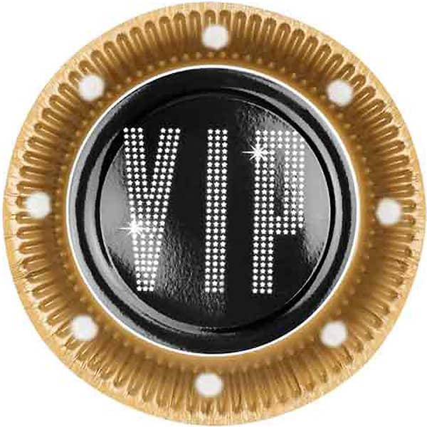 VIP Tema 23cm Plato de Papel - Unidad