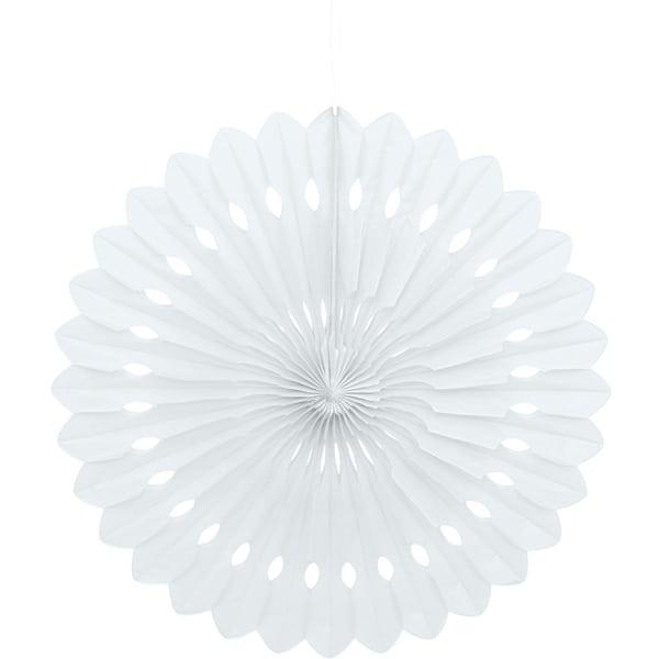 Blanco Colgando Decorativo Panal Ventilador