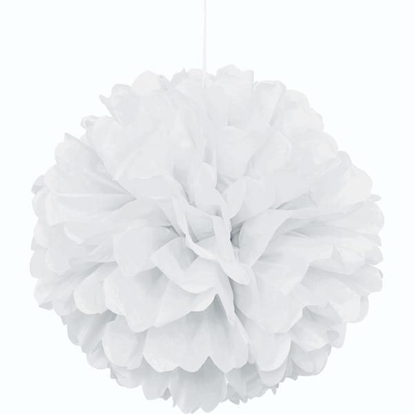 Blanco Colgante Decorativo de Panal Bola de Puff