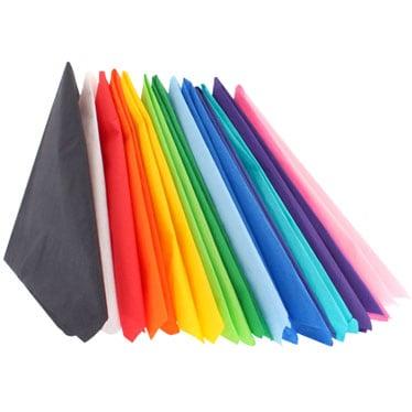 Servilletas de colores lisos