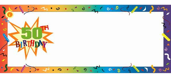 50 cumpleaños Banners personalizados