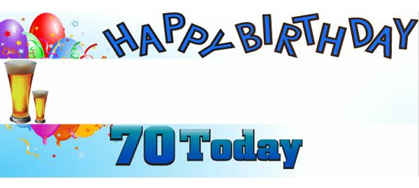 70 cumpleaños Banners personalizados