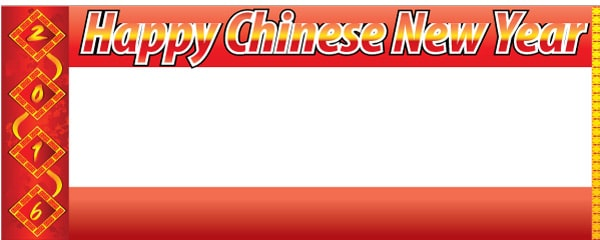 Banners personalizados de año nuevo chino