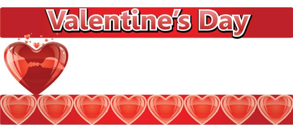 Banners personalizados de San Valentín