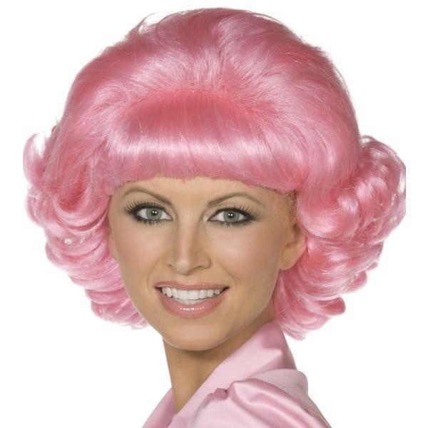 Escuela de Color Rosa Abandono Frenchy Damas Peluca Corta