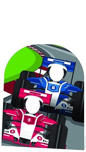 Racing Cars 120cm Stand-In Figura de cartón