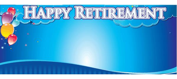 Banners personalizados de jubilación