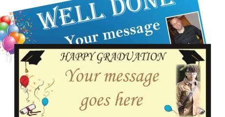 Escuela, estudiante y graduación Banners personalizados