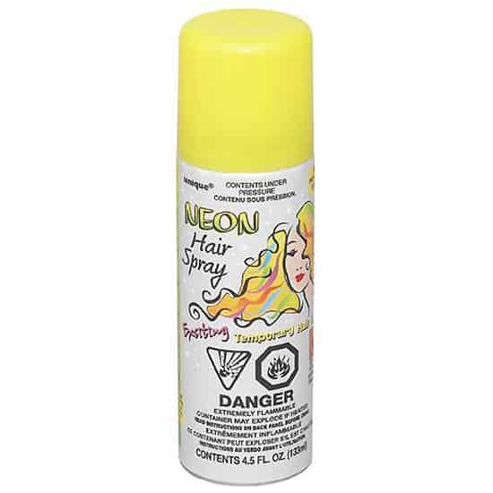 Amarillo spray para el pelo