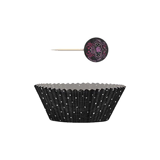 Cumpleaños Dulces Cupcake Decoración Kit - Pack de 24