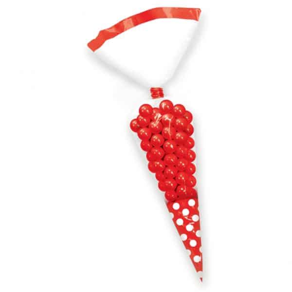 Rojo Cono Lunares Bolsas de Regalo - Pack de 10