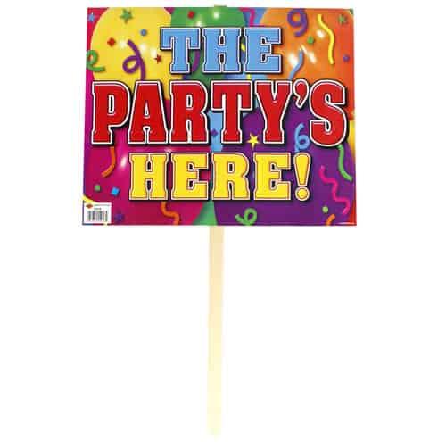 El Partido Está Aquí Señal de Césped