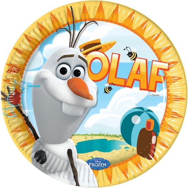 Disney Frozen Summer Olaf 23cm Plato de Cartón - Unidad