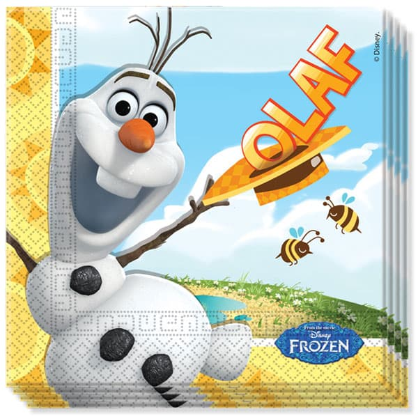 Disney Frozen Summer Olaf Servilletas de Almuerzo - Pack de 20