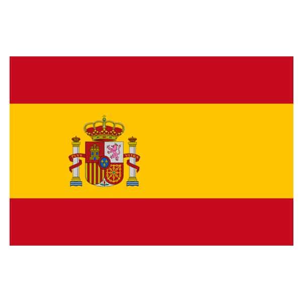 Español Bandera con Crest 153 x 92 cm