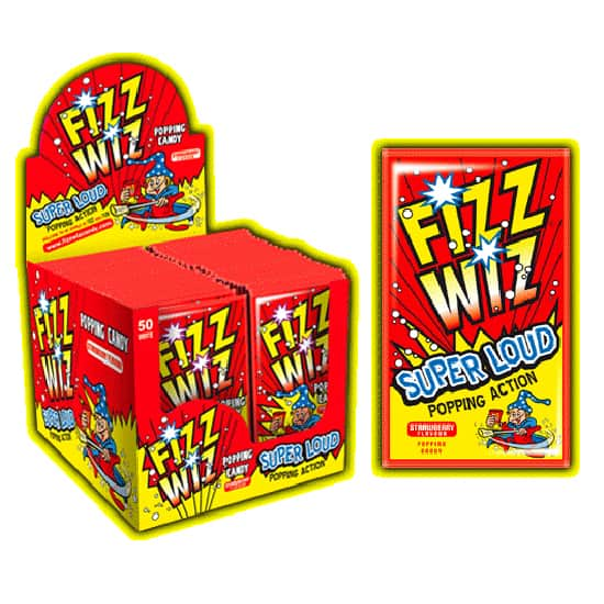 Caramelo Fresa Sabor Fizz Wiz Popping - Unidad