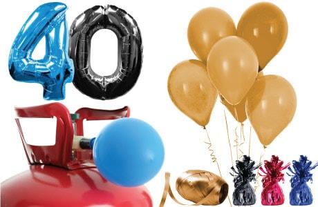 Paquetes de helio de edades adultas con globos